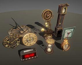 Clocks pack 3D asset
