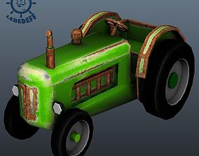 3D model Cartoon tractor