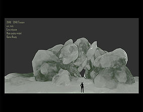 Ice Cave 3D asset low-poly