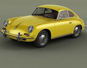 Porsche 356B Coupe 3D model