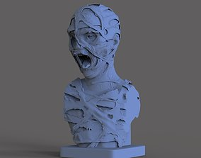 zombie 3D printable model Mummy Bust