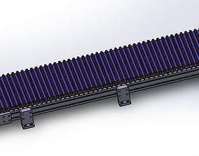 3D model belt converyor