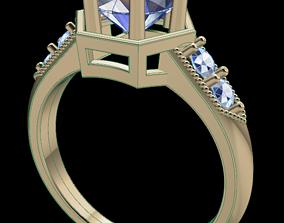 3D print model Hexagon Engagement Ring