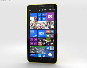 Nokia Lumia 1320 Yellow 3D