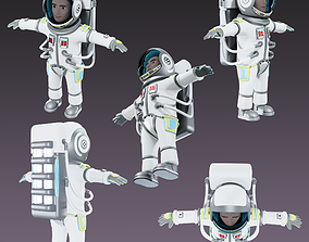 Stylized Astronaut 3D asset