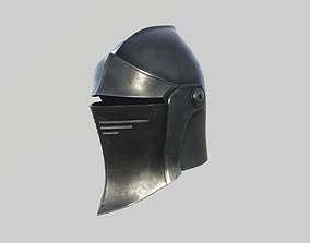 Medieval Fantasy Armet Helmet 3D model