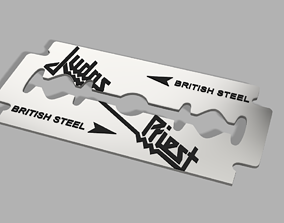 3D printable model JUDAS PRIEST-BRITISH STEEL RAZOL BLADE