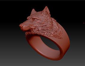 ring wolf 3D printable model