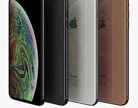 Apple iPhone XS Max All Color 3D asset