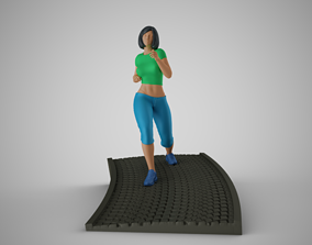 3D print model Woman Run Downhill