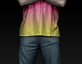 3D model male head character