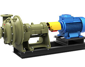3D model Pump centrifugal Grt