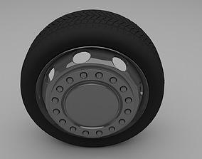 3D asset Truck Bus Wheel