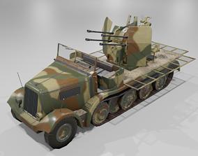 Sdkfz 7-1 Anti Aircraft Gun 3D asset realtime