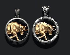 Horoscope Taurus Bull pendants pack 3D print model