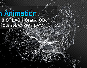 3D model Water Splash Animation