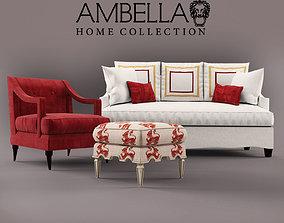 3D model Sofa armchair pouffe AMBELLA home