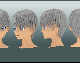 Yu nakurami hair style 3d anime