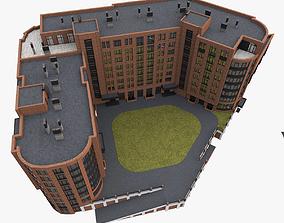 European Residential High-Rise Building 3D