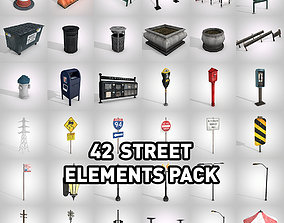 42 Street Props Pack 3D model