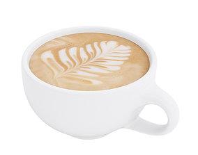 3D model Latte coffee cup 2