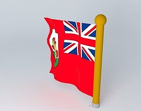 3D red Bermuda Flag