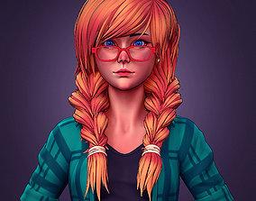 Girl in shorts 01 ZBrush 3D model
