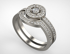 3D print model The Engagement Set Ring All Size