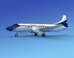 Convair CV-580 Trans Texas 3D model