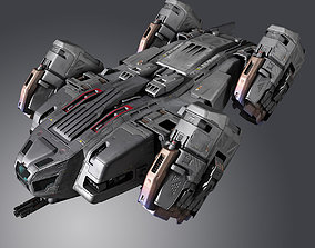 3D model SF Lander Ship