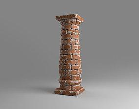 3D model Bricked column