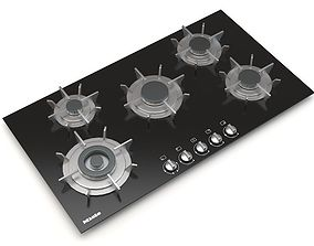 Miele 5 Burner KM 391 Gas on Glass G Cooktop 3D model