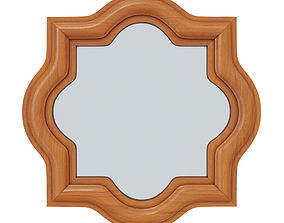 Wall Mirror in Teak design by Selamat wall 3D