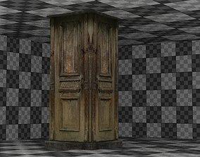 3D asset Wooden Column 01