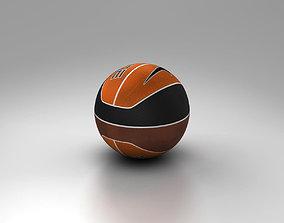 Basketball ball euro tricolor trademark 3D model