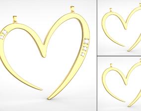 3D printable model 3 Love Heart Medals