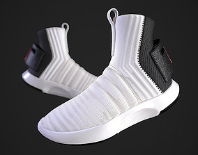 Adidas Crazy 1 ADV Sock White 3D asset