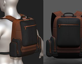 3D model Backpack military combat soldier armor scifi 1