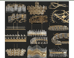 realtime Chandeliers 3d models Collection 10 pieces