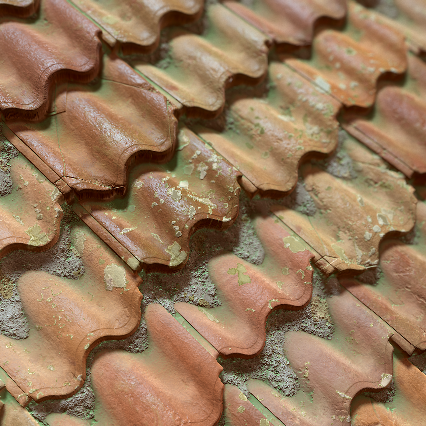 Roof Tiles PBR Material