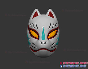 3D printable model Japanese Fox Mask Demon Kitsune 2