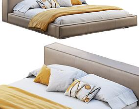 Queen Loft Leather Bed 3D model