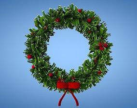 3D model game-ready Christmas Wreath