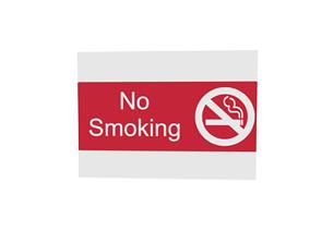 3D model No smoking sign