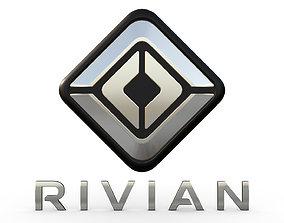 3D model rivian logo