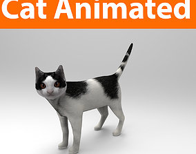 3D Cat animated Model low poly animated