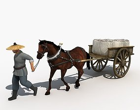3D model animated Carriage