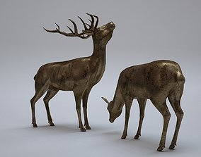 Deer Statues 3D model