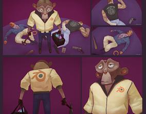 Blender Monkey 3D asset