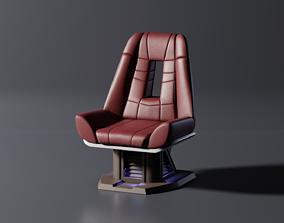 3D model PBR Enterprise E Bridge Chair A